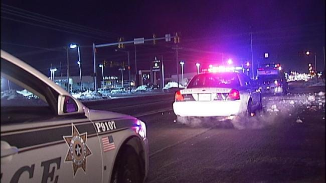 Tulsa Car Crash Snaps Power Lines Friday Morning