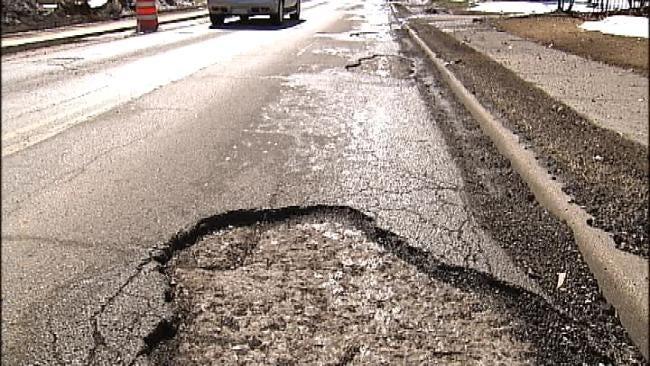 Potholes Plague City Of Tulsa After Winter Storm