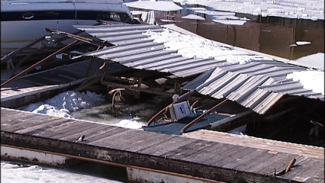 Repairs Begin After Storm Damages Grand Lake Marinas