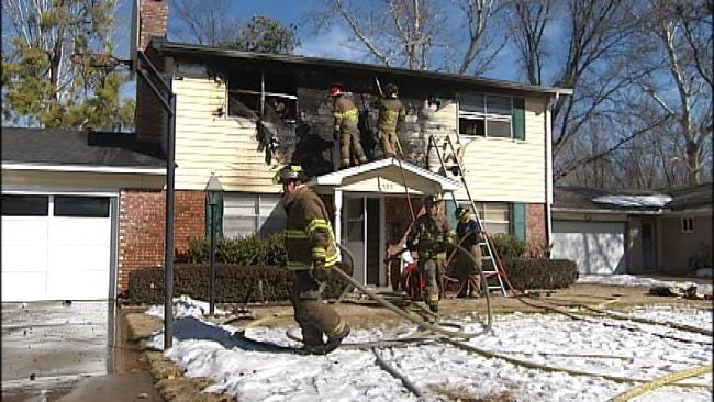 Tulsa Home Damaged By Fire Monday Morning