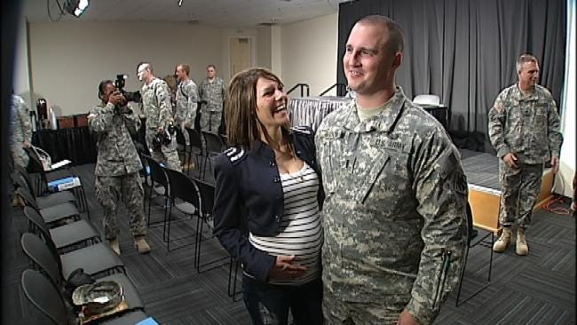 Families Bid Farewell To Oklahoma Soldiers Heading To Afghanistan