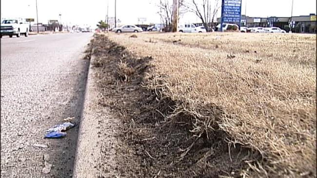 City Of Tulsa Crews Make Roadside Repairs After Snow Storm