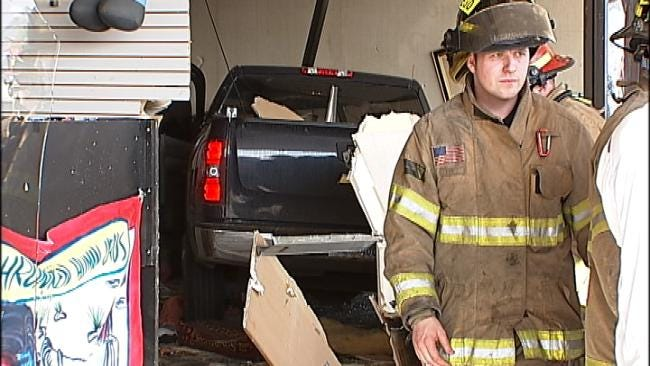 Six Injured When Truck Crashes Into Tulsa Insurance Office
