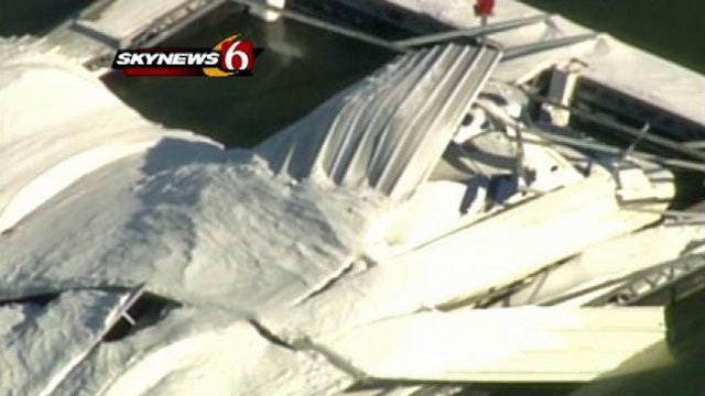 Blizzard Damages Area Buildings, Boat Docks