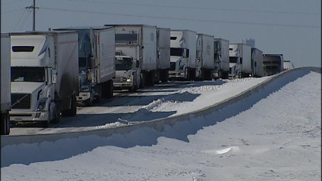 Stranded Truck Drivers On I-44 Wait For Help