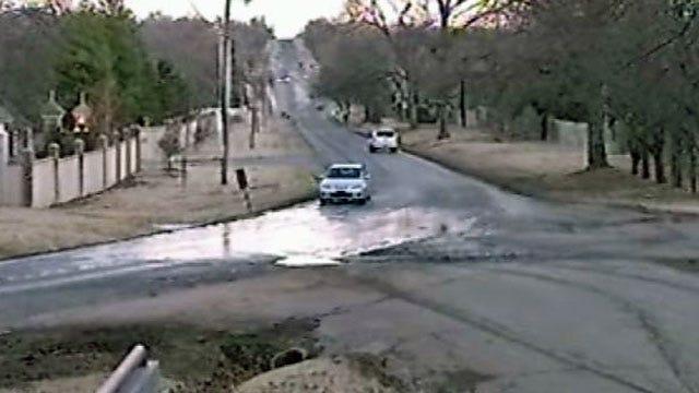Thin Sheet Of Ice On Tulsa Street Leads To Crash