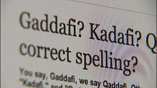 How Do You Really Spell Moammar Gadhafi's Name?