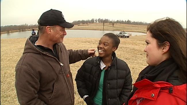 Haitian Orphans Experience Oklahoma At Bristow Ranch