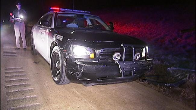 Man Arrested After High Speed Chase In Stolen Tulsa Police Car