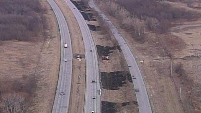Small Grass Fires Burn Land Along Highway 412