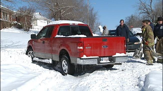 Mayor Bartlett Rides Shotgun In Fire Truck To View Street Conditions