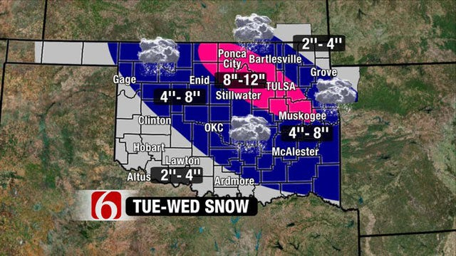 Winter Storm Warning Issued For All Of Northeastern Oklahoma