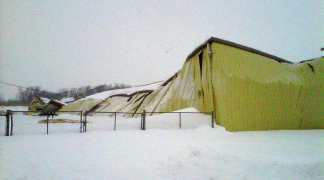 Roof Collapses At Pryor's Power Soak Manufacturing Plant