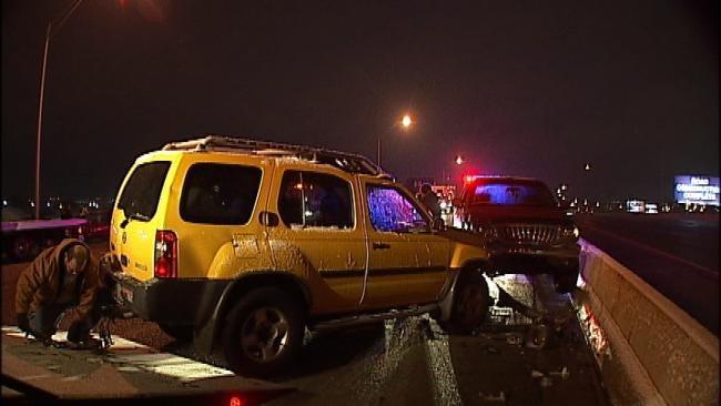 Icy Bridge To Blame For Six-Car Crash On Tulsa Highway