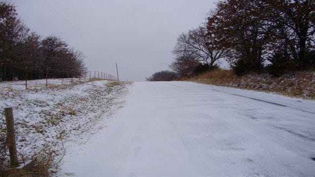 Much Of NE Oklahoma Under Winter Weather Advisory As Snow Continues