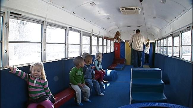 Tumblebus Brings Exercise, Smiles To Tulsa Kids