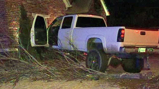Driver Jailed After Chase Ends With Crash Into Broken Arrow Home