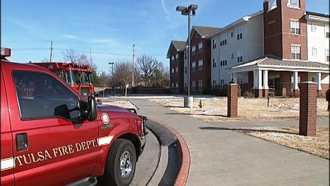 Frigid Temps Cause Sprinkler System To Burst At Tulsa Apartment Building