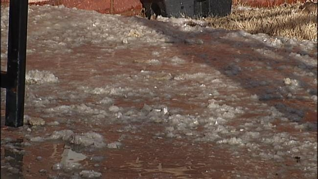 Frigid Temps Cause Sprinkler System To Burst At Tulsa Apartment Building
