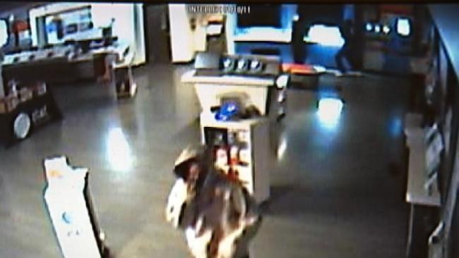 Surveillance Video Captures Suspects Burglarizing Tulsa Cell Phone Store