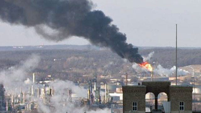 Tulsa Fire: Smoke And Flames At Refinery Just Burning Of Excess Product