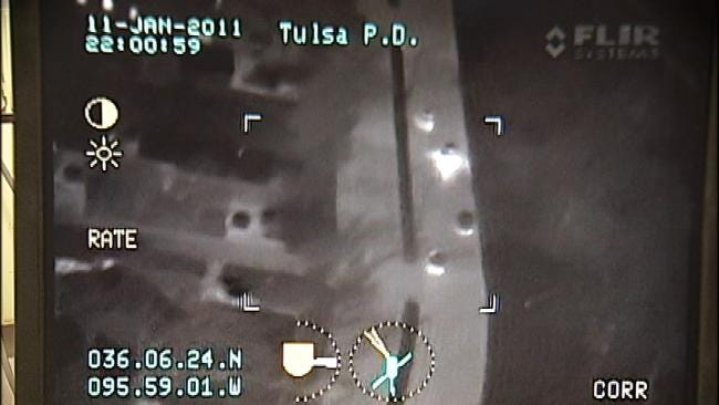 Tulsa Police Helicopter Captures Chase, Arrest Of Burglary Suspect
