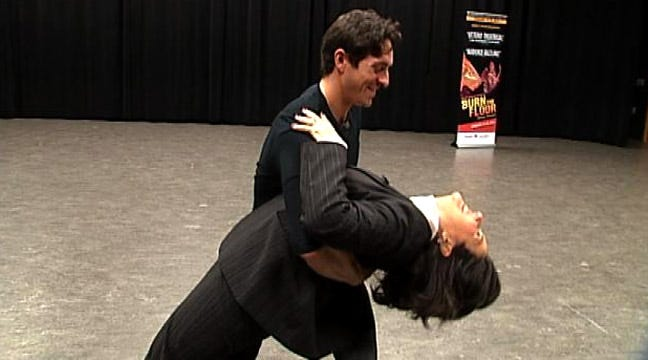 LeAnne Taylor Gets Cha Cha Lesson From Dancer Ryan Di Lello