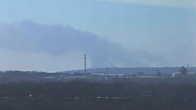 Grass Fire Sparked By Burning Shingles Near Sapulpa
