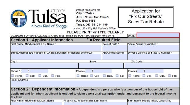 Some Tulsans Eligible For City Sales Tax Rebate