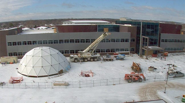 New Planetarium Dome To Be Installed At Jenks School