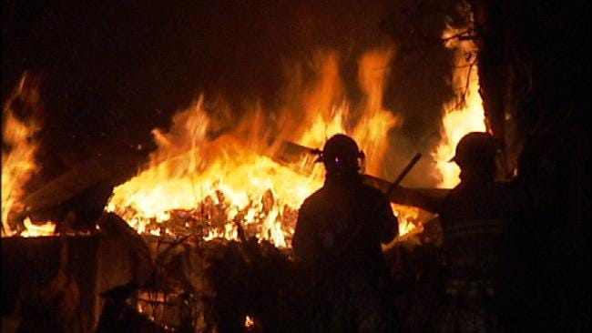 Homeless Person May Have Sparked Fire That Destroyed Vacant Skiatook Homes