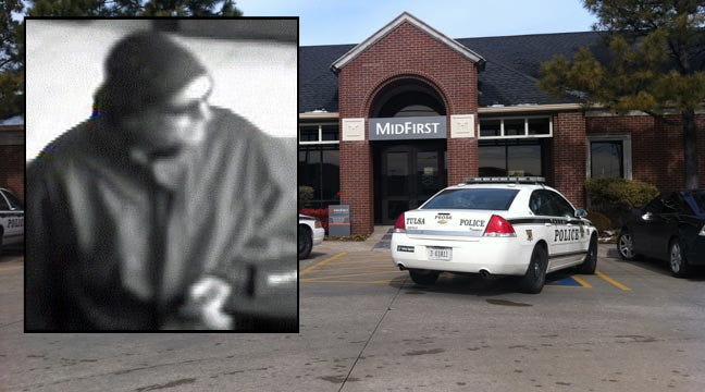 Tulsa Man Arrested In Connection With Saturday's Tulsa Bank Robbery
