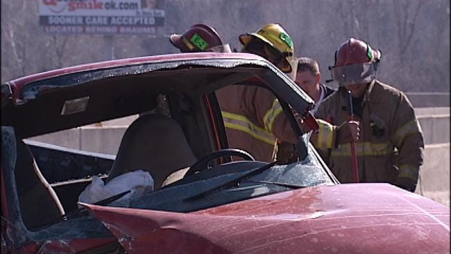 Woman Injured In Sand Springs Street Sweeper Crash