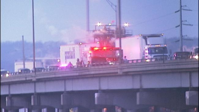 No One Injured In Arkansas River Bridge Crash In Tulsa Tuesday Morning
