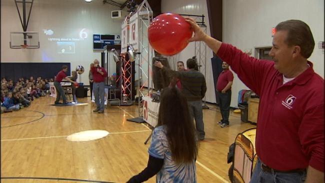 Trav's Wild Weather Camp Visits Vinita Elementary School