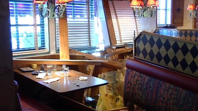 Four Injured After Car Slams Into South Tulsa Cafe
