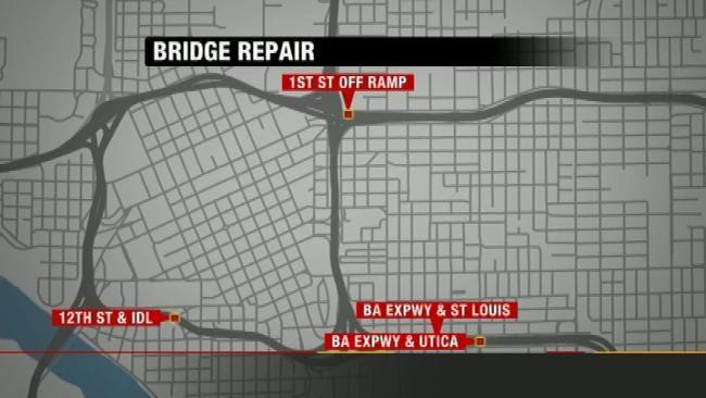 ODOT To Start Work On Four Downtown Tulsa Bridges Tuesday