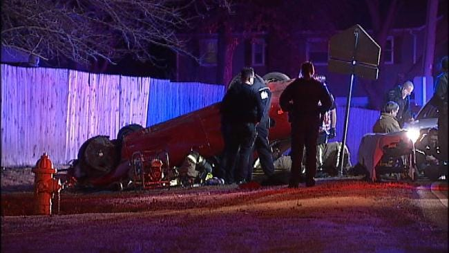 Two Injured When Stolen Car Crashes In East Tulsa Chase