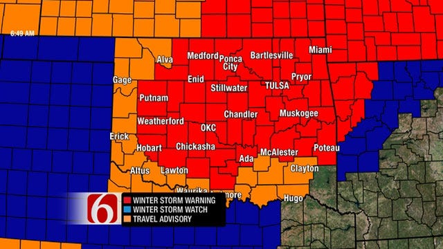 Lots Of Snow And Temps In The Deep Freeze Forecast For Oklahoma
