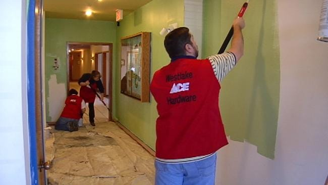 Businesses, Volunteers Give Tulsa's Ronald McDonald House A Makeover