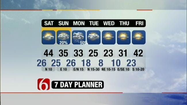 Snow, Bitter Cold Temperatures Expected In Northeastern Oklahoma