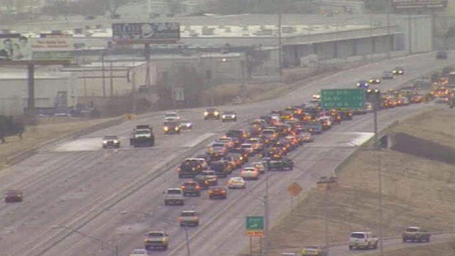 Slick Conditions On Tulsa Streets Leading To Crashes, Backups