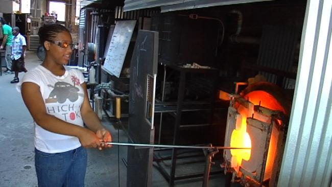 Tulsa Boys & Girls Club Students Get Lesson In Glass Blowing