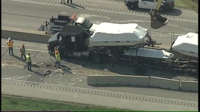 Will Rogers Turnpike Back Open After Semi Wreck