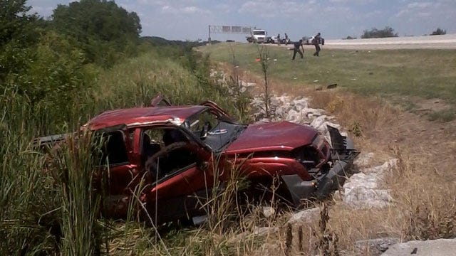 Three Injured In Rollover Crash On Creek Turnpike
