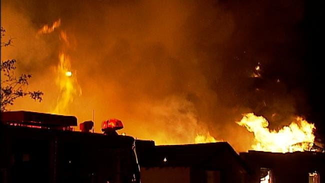 Abandoned Turley Church Building Goes Up In Flames