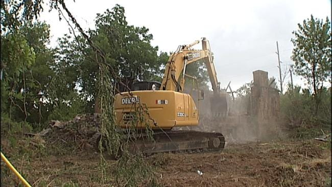 Tulsa County Continues Demolition Of Run-Down Property
