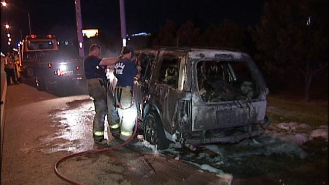 Abandoned Mattress On Tulsa Highway Sparks SUV Fire
