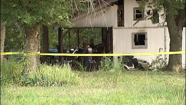 Suspect In Foyil Standoff Dead After Home Catches Fire