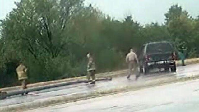 Wet Roads Blamed For Multiple Crashes On Highway 75 In Tulsa